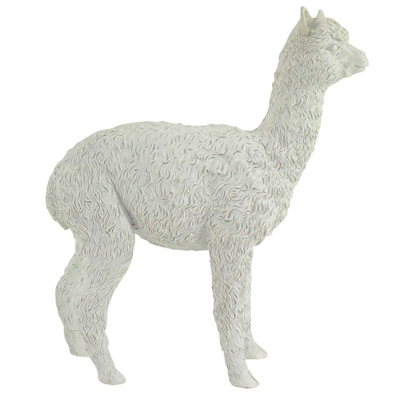 White Alpaca Figurine 24cm - The Chic Nest