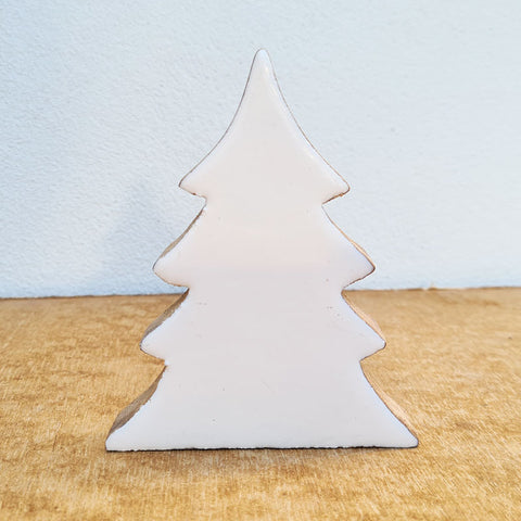 Wooden Christmas Tree - White Gloss