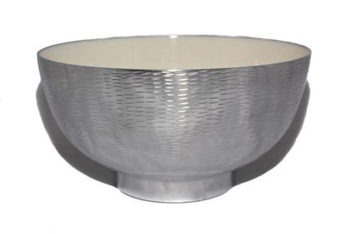 White Rice Hammered Bowl - The Chic Nest