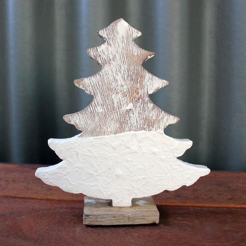 Whitewashed Wooden Tree - The Chic Nest
