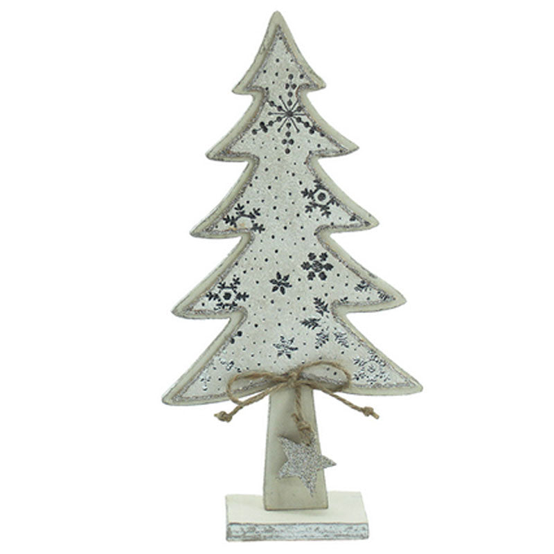 Wooden Christmas Tree On Stand - The Chic Nest
