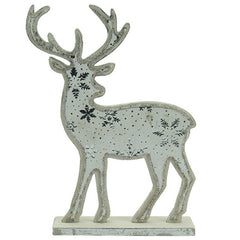 Wooden Reindeer On Stand