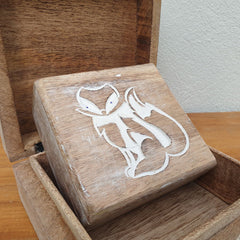 Set of 2 Wooden Fox Design Boxes - The Chic Nest