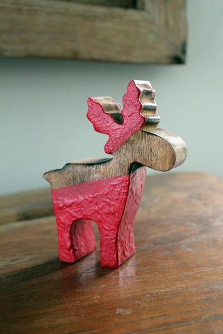 Wooden Reindeer - The Chic Nest