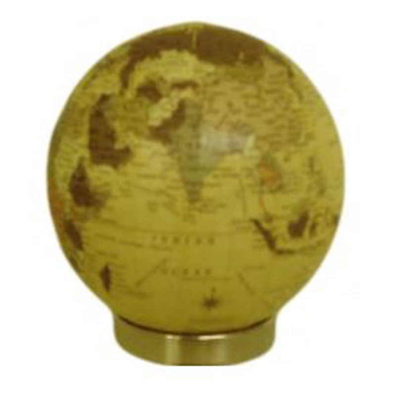 World Globe Ball On Stand - Antique