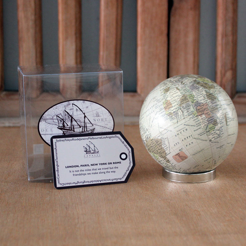 world globe ball on stand antique the chic nest