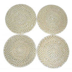 Beige & White Woven Placemat - The Chic Nest