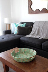 Mint Woven Basket - The Chic Nest