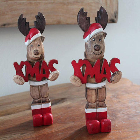 Christmas Wooden Reindeer - The Chic Nest