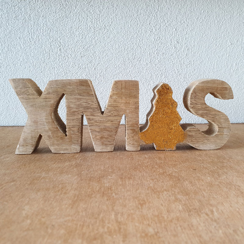 Xmas Wooden Word Sign