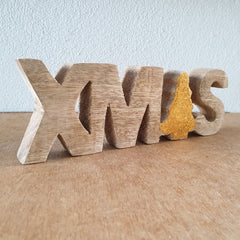 Xmas Wooden Word Sign - The Chic Nest