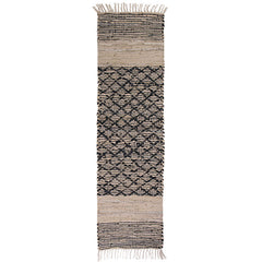 Yarra Leather & Jute Table Runner - Handcrafted
