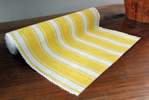 Yellow Striped Table Runner - The Chic Nest