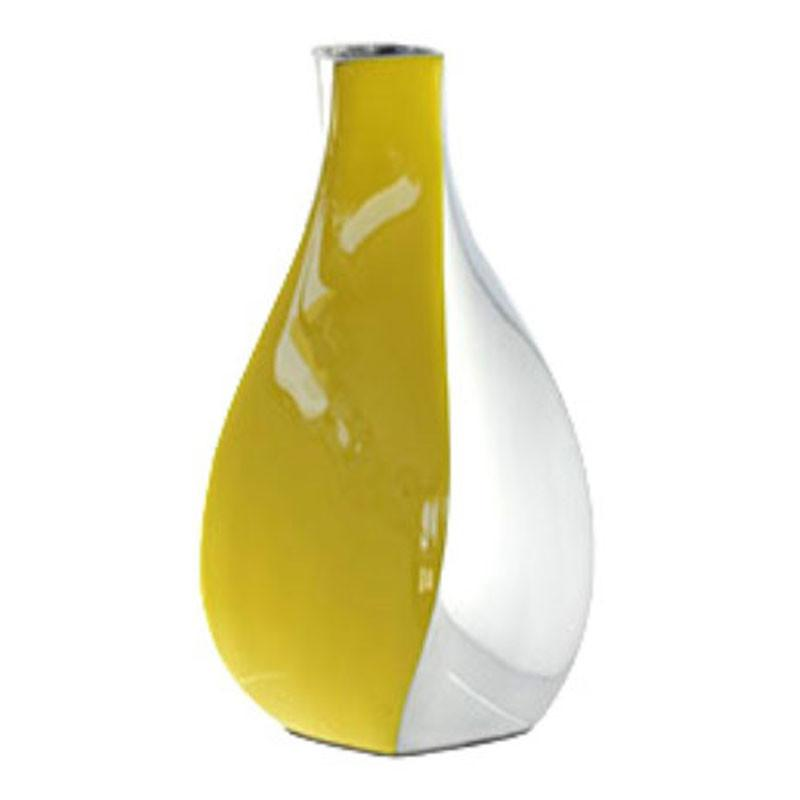 Yellow & Silver Swirl Vase - The Chic Nest