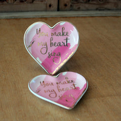 You Make My Heart Sing Trinket Dish