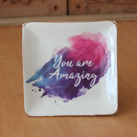 You Are Amazing Colourful Trinket Dish - The Chic Nest