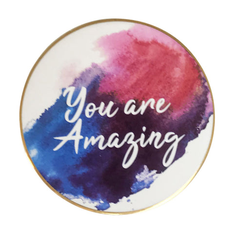 You Are Amazing Watercolour Coaster