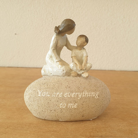 You Are Everything to Me Rock Figurine