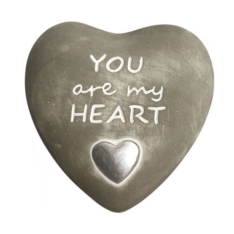 You Are My Heart Pebble Concrete Grey - Silver Splash