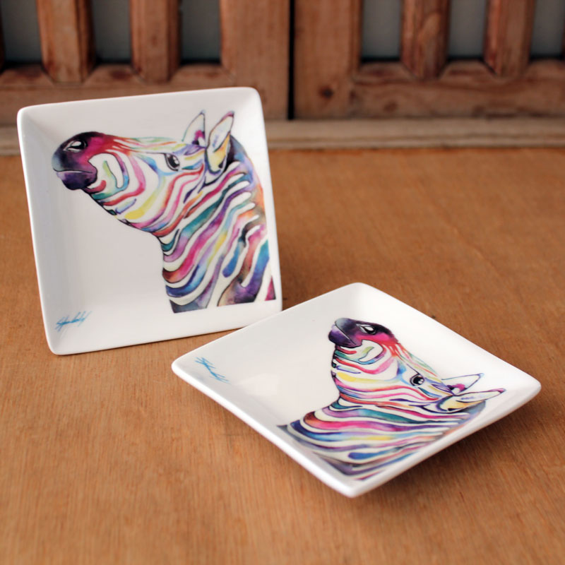 Colourful Zebra Trinket Dish - The Chic Nest