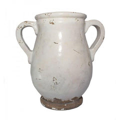 Antique White Urn - The Chic Nest