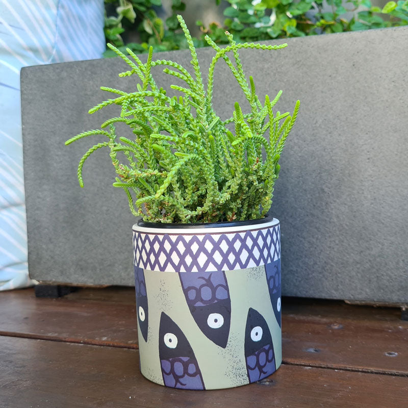 Aquata Ceramic Planter Pot - Olive