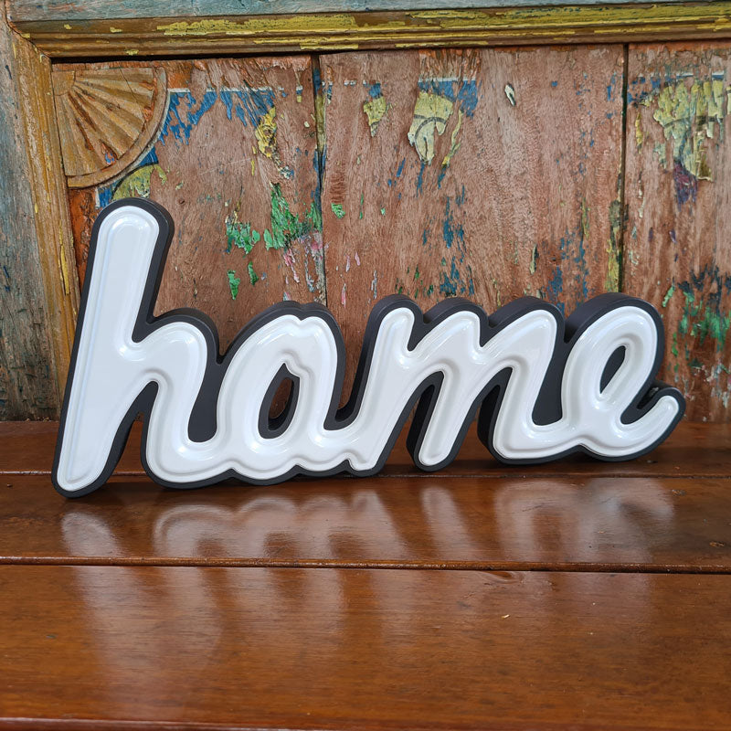 Home Word Sign - White