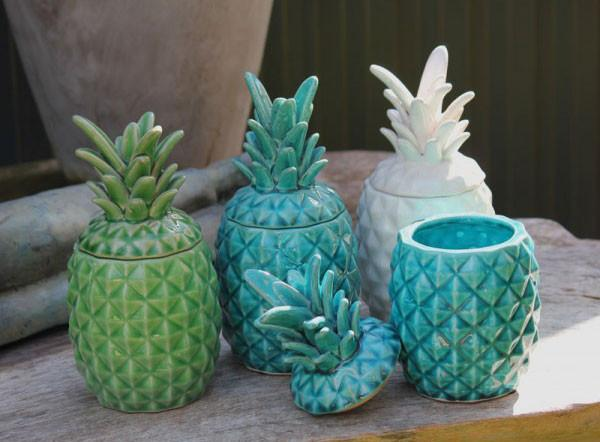 Pineapple Jar - White - The Chic Nest