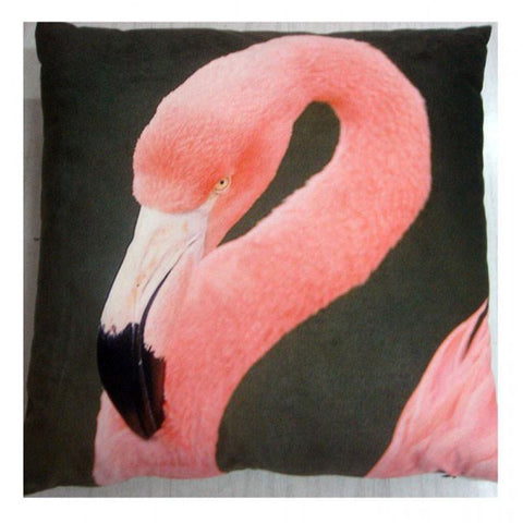 Pink Flamingo Velvet Cushion - The Chic Nest