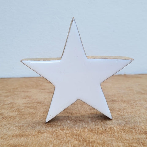 Wooden Star - White Gloss
