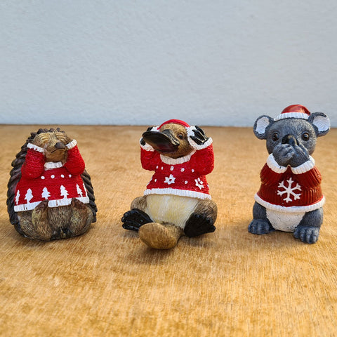 Three Wise Christmas Aussie Animals Trio