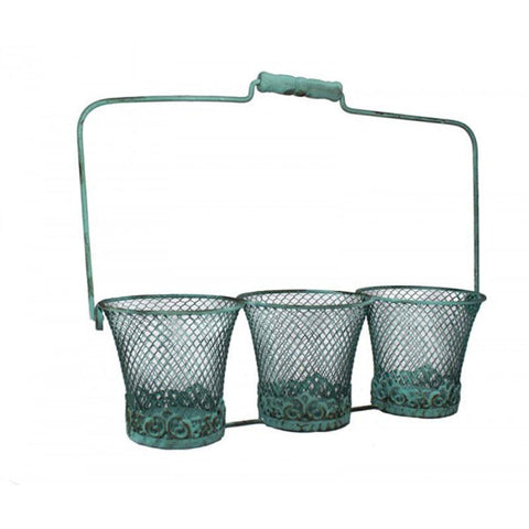 Triple Mesh Wire Bucket - The Chic Nest
