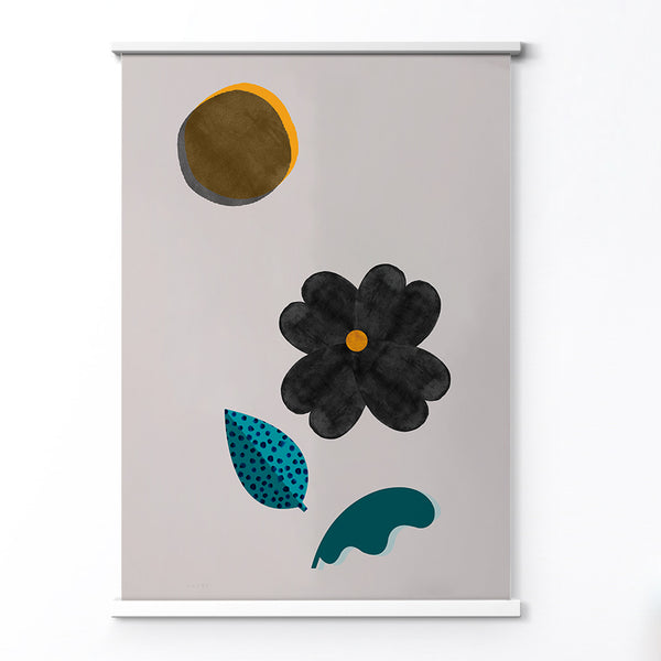 Minimalist flower and sun art print