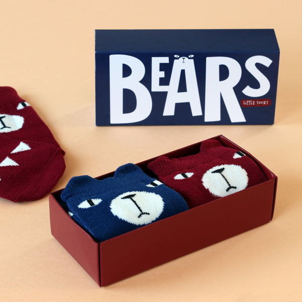 Bears Knee High Socks Gift Set