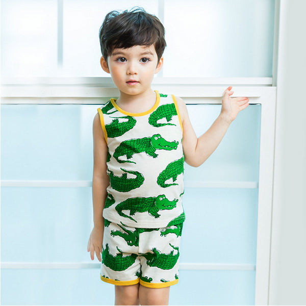 Crocodile Vest & Shorts Pyjamas