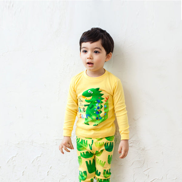 Dinosaur Paw Print Long Sleeves Pyjamas