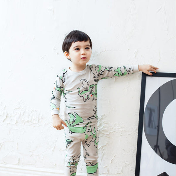 Flying Dinosaur Long Sleeves Pyjamas