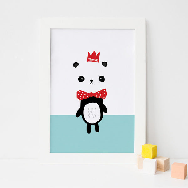 Hello Little Panda Personalised Print