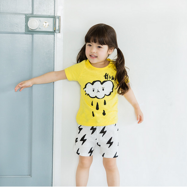 Rainy Day Tee & Shorts Kids Pyjamas