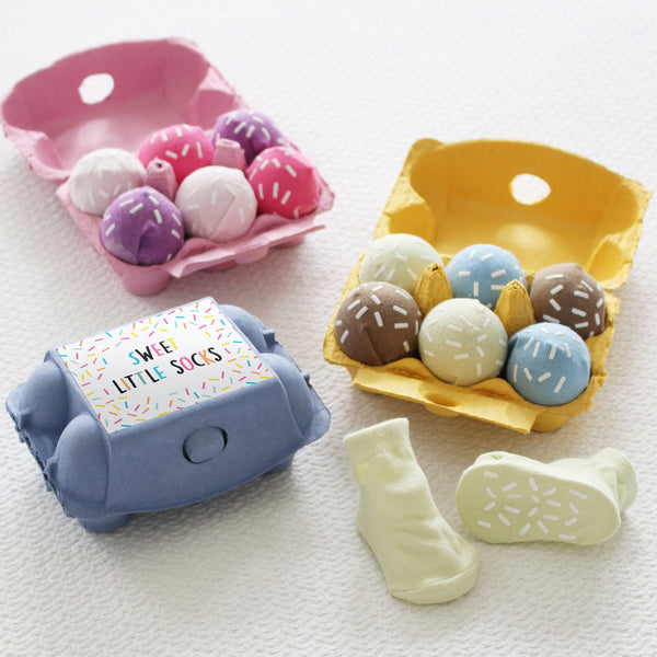 Six Scoops of Sweet Little Baby Socks Gift Set