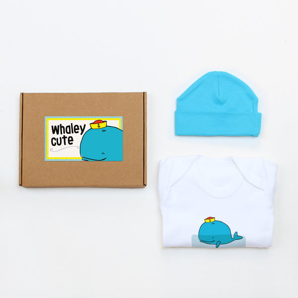 Whaley Cute Hat & Bodysuit Baby Gift Set