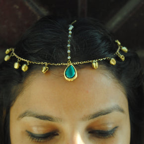 Royal Crown Maang Tika Hair Accessory (ACM003)