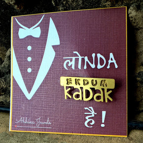 """Ekdum Kadak"" Men's Brooch (ABR003)"