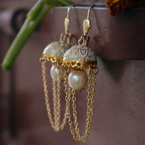 Moon under the Jhumki Earrings (ACE005)