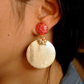 Dangling Disc Earrings (ACE017)
