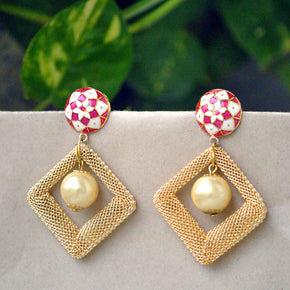 Enamel And KIte Mesh Earrings (ACE018)