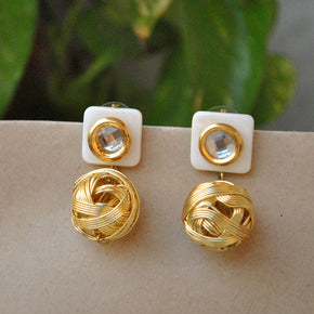 The Golden Weave Earrings (ACE022)