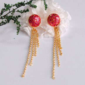 The Golden Waterfall Earrings (ACE037)