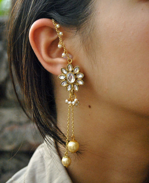 Kundan Kanauti Earrings (ACE046)