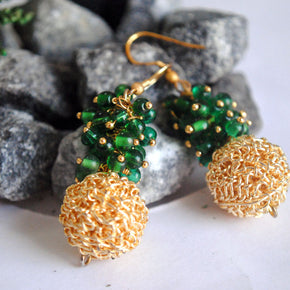 Green Garnish Earrings (ACE048)